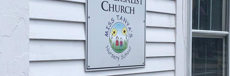 Nursery School sign