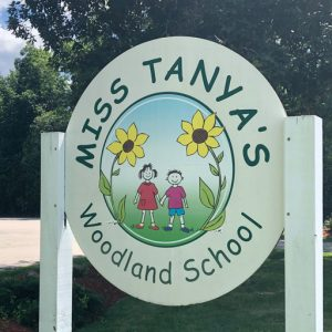 Woodland School sign